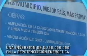 MINISTERIO DE PLANIFICACIÓN FEDERAL TRANSFIRIÓ FONDOS PARA OBRAS ELÉCTRICAS EN GOYA