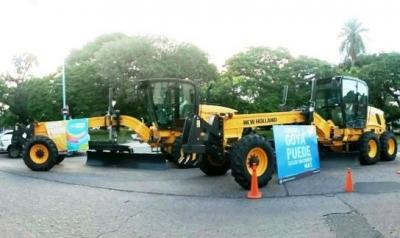 Municipalidad de Goya adquirió dos nuevas Motoniveladoras que se suman a la flota municipal
