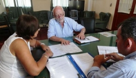 ESQUINA: El Intendente Bianchi recibió al Ministro Ignacio Osella